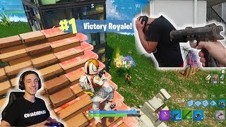 LOSER SHOT WITH PAINT BALLS! (WHO CAN GET MORE KILLS IN FORTNITE?)