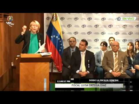 Fiscal Ortega Díaz desconoce sentencias TSJ #LoMásVistoVPITV