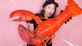 [Mukbang] GIANT KING LOBSTER 6.5KG🦞초 대왕 랍스터  Eatingsound ASMR Ssoyoung ロブスター омарTôm hùm