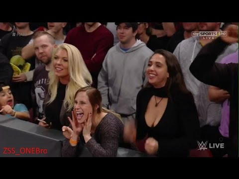 Roman Reigns fan hot cleavage girl crowd WWE Raw