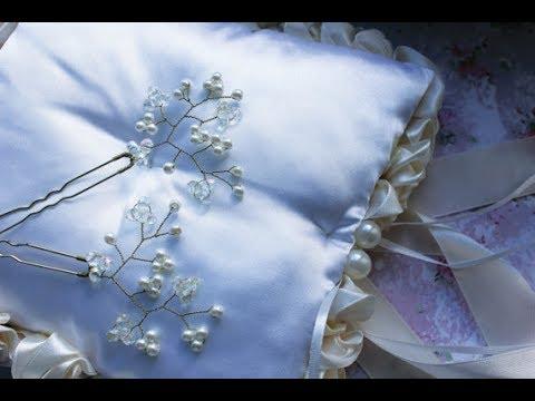 Свадебное украшение для волос своими руками| Bridal Hair Pin