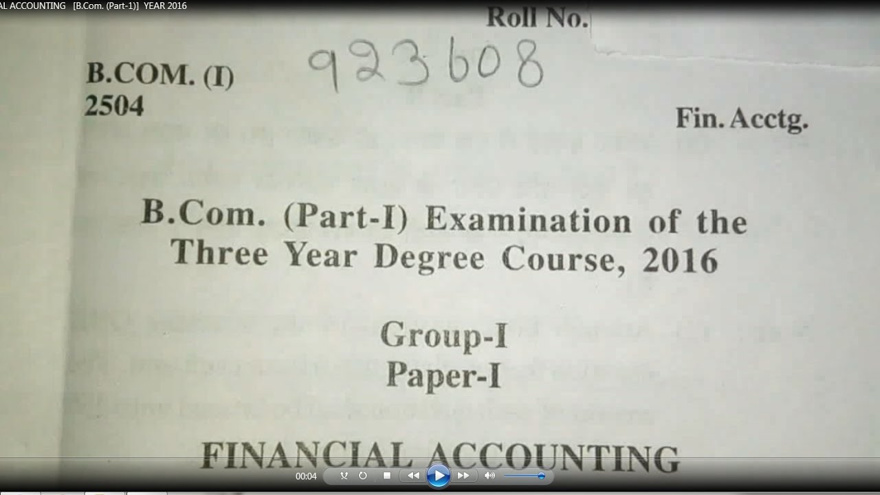 Bcom 1st Year Financial Accounting Books Pdf