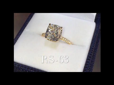 3.50 ct Cushion Cut Diamond Engagement Ring