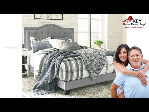 Ashley Jerary King Upholstered Bed B090 382 Key Home Youtube