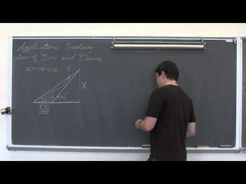 Applications of Law of Sines and Cosines