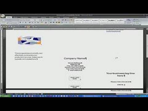how to make a brochure using microsoft word
