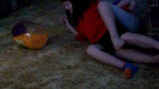 Hannah And Mak Fighting Over Cheese Balls