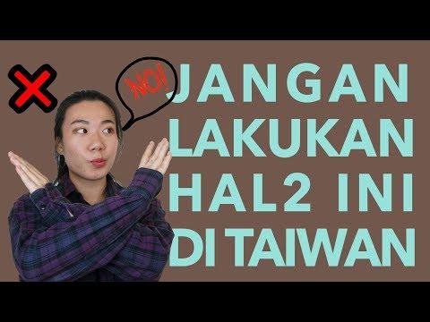 5 Hal Yang Tidak Boleh Dilakukan di Taiwan