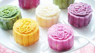 【Eng Sub】冰皮月餅 冷藏幾天都香軟  天然色素 Natural Colour Snow Skin Mooncake