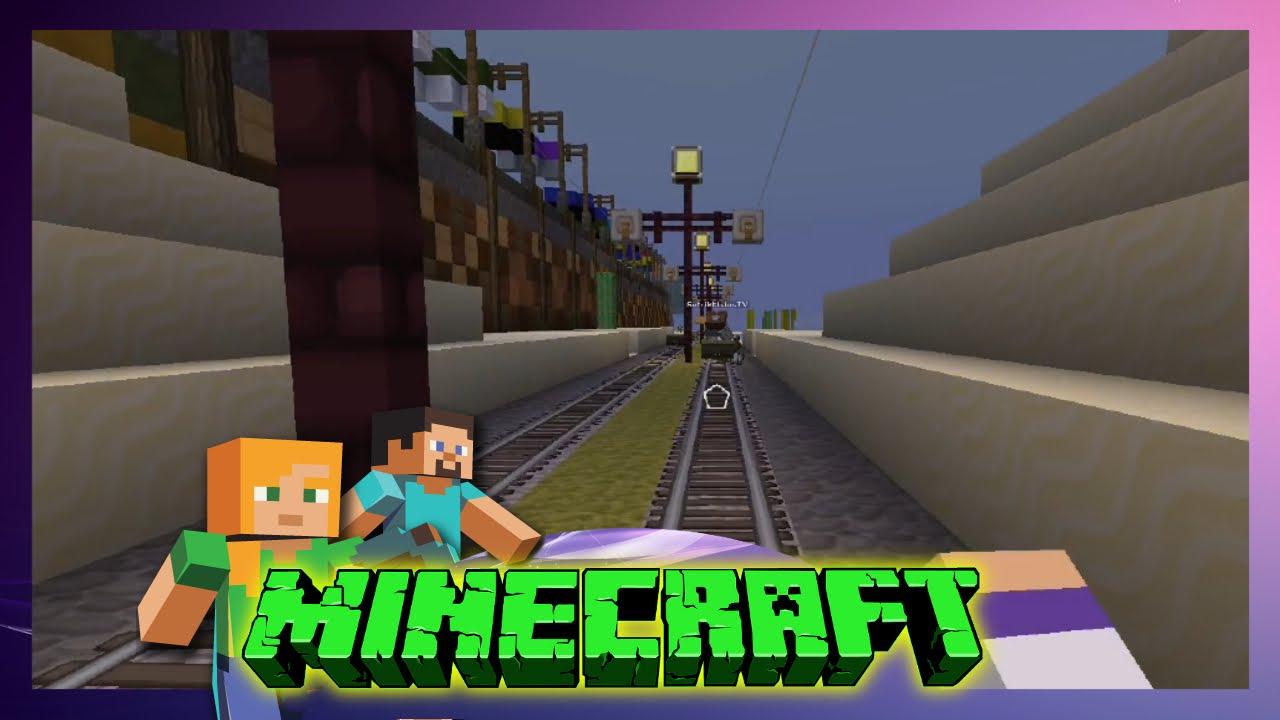 Minecraft Friends Wir Fahren Mit Der Eisenbahn Lets - Minecraft zug spiele