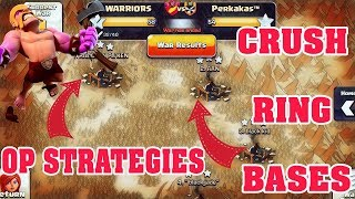 CLASH OF CLANS TROLL RING BASES DESTROYED WITH EASE .TH9 OP ATTACKS