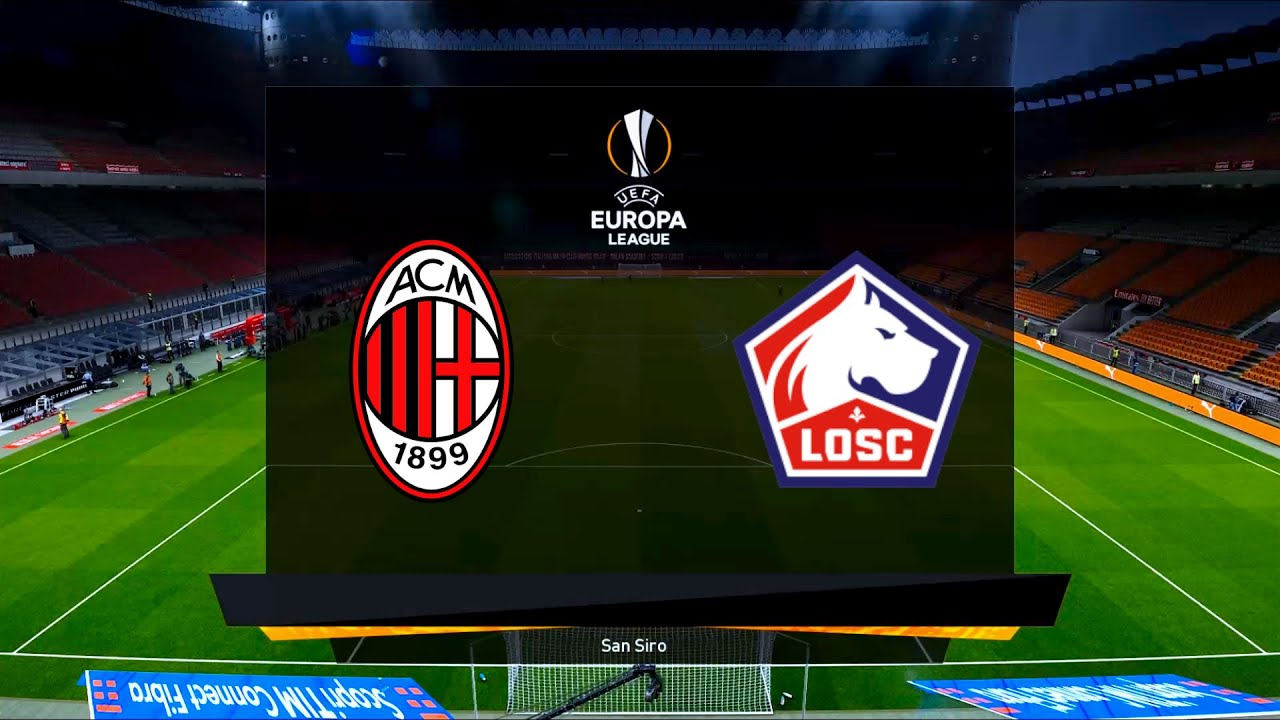 AC Milan vs Lille   San Siro   UEFA Europa League   PES 2021 - YouTube