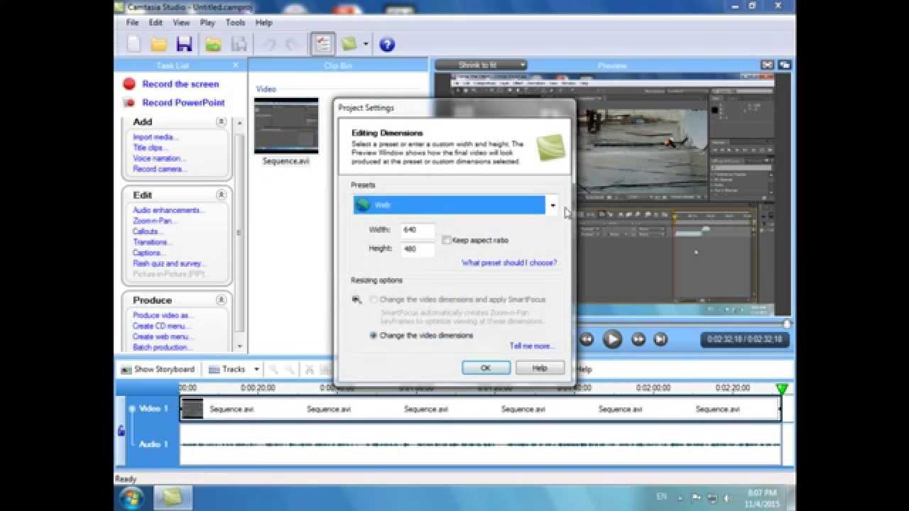How To Edit Video In Camtasia Studio (zoom,audio,subtitle)