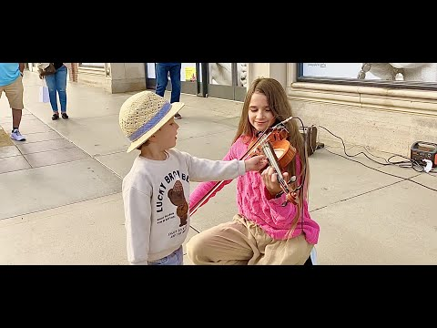 The boy tries to STEAL my violin during my street performance   Imagine by John Lennon
