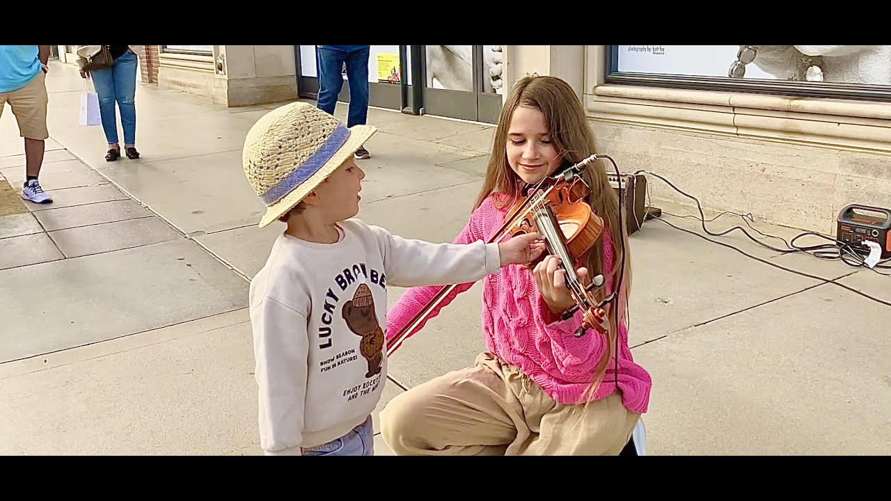 The boy tries to STEAL my violin during my street performance | Imagine by John Lennon