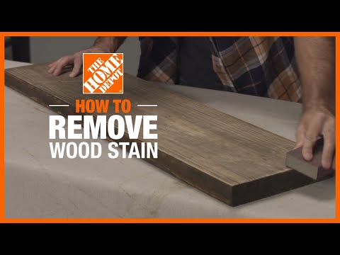How to Remove Wood Stain | Simple Wood Projects | The Home Depot