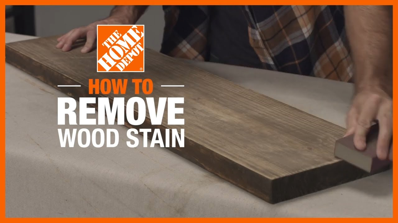 How To Remove Wood Stain The Home Depot