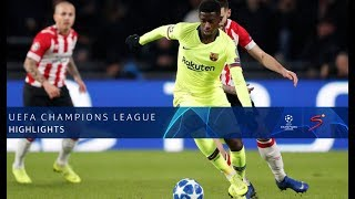 UEFA Champions League | PSV vs Barcelona | Highlights
