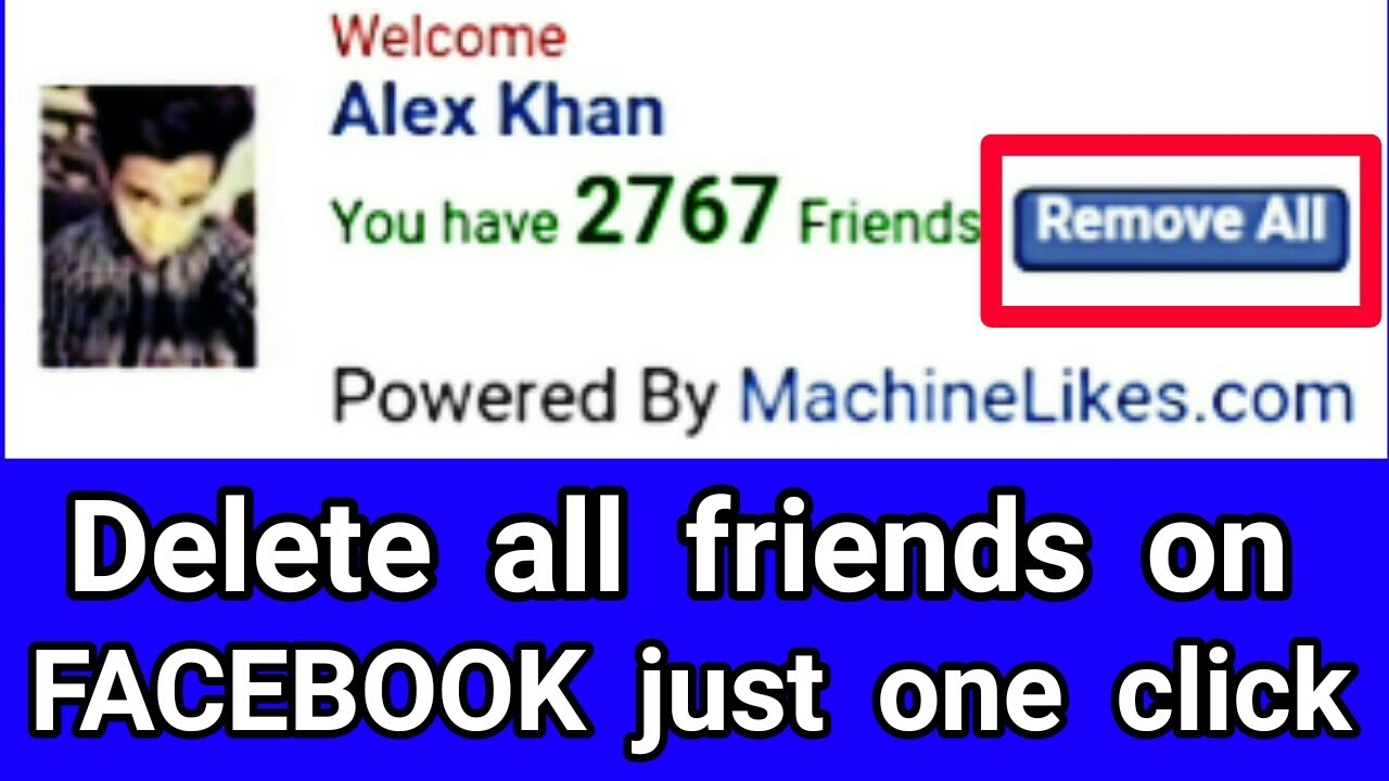 Easier way to delete friends on facebook in one click