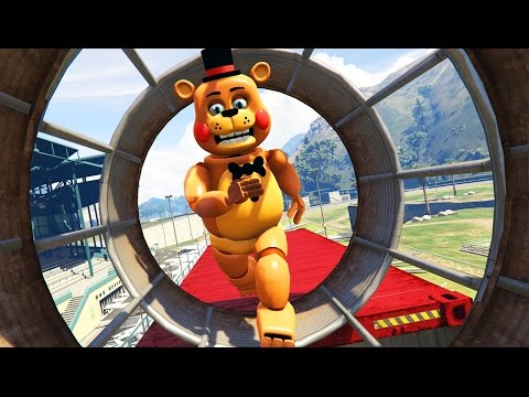 ULTIMATE TOY ANIMATRONIC IMPOSSIBLE DEATHRUN! (GTA 5 Mods FNAF Funny Moments)