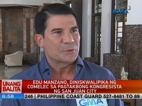 UB: Edu Manzano, diniskwalipika ng Comelec sa pagtakbong kongresista ng San Juan City
