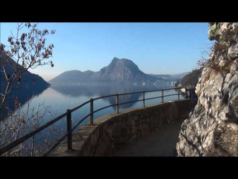 A walk along Lake Lugano, Switzerland