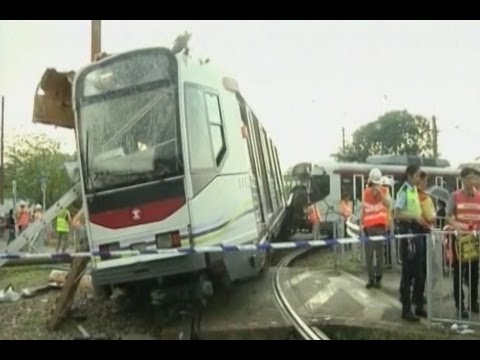 62 Injured in Hong Kong Train Derailment