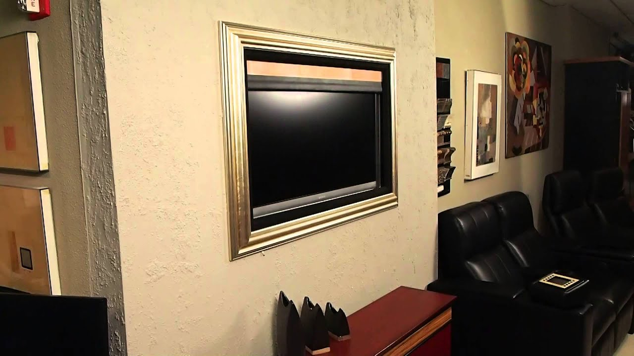 The Art Screen - Motorized artwork to conceal your TV - YouTube