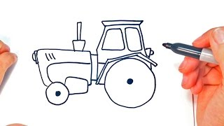 How to draw a Tractor | Tractor Easy Draw Tutorial