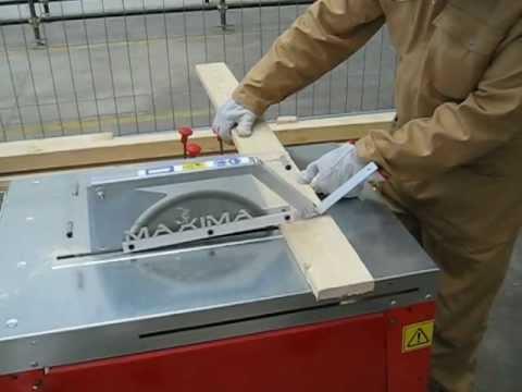 18 h eseguire tagli con sega circolare circular saw for Slitta per sega da banco