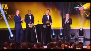 Вручение золотого мяча 2014 2015 Криштиану Роналдо крик Смешно !! Смешно закричал ! 12 января(Siiiii , смешно закричал ,, 2015-01-14T14:45:24.000Z)