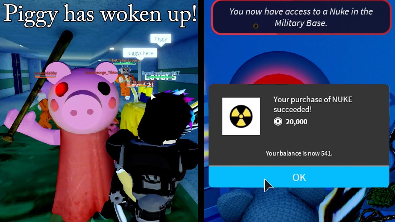 I Spawned Piggy Spent 20 000 Robux For A Nuke Roblox