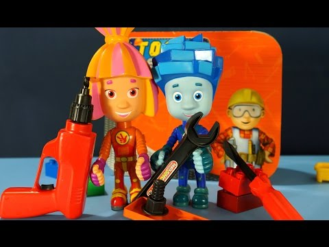 Мультики из игрушек Фиксики. Инструменты для Детей. Нолик и Симка развивающее видео