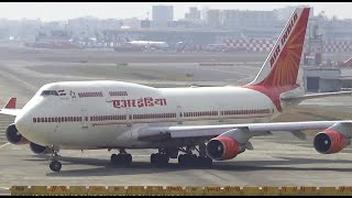 Top 10 Airlines - Very short Takeoff Air India Boeing 747-400