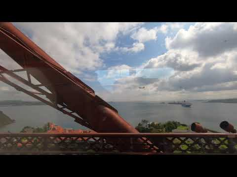 Crossing The Forth Bridge From South Queensferry To North Queensferry, Scotland - 10 July, 2019