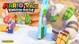 Mario + Rabbids Kingdom Rabbit Mario Defeat Boss Buckler in Sherbet Desert