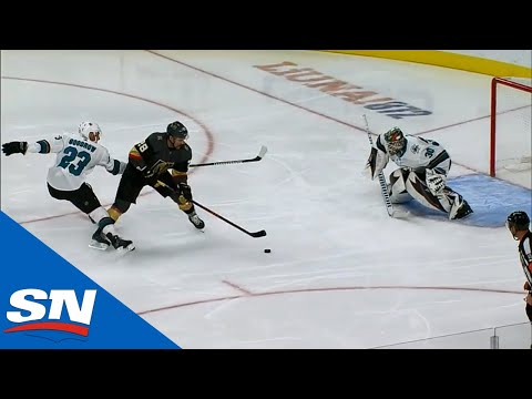Big Marc-Andre Fleury Save Leads To William Carrier Breakaway Goal