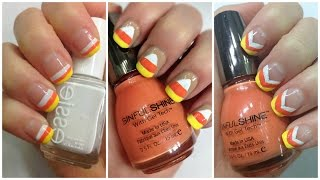 DIY Nail Art for Halloween - Easy Candy Corn Nails #9