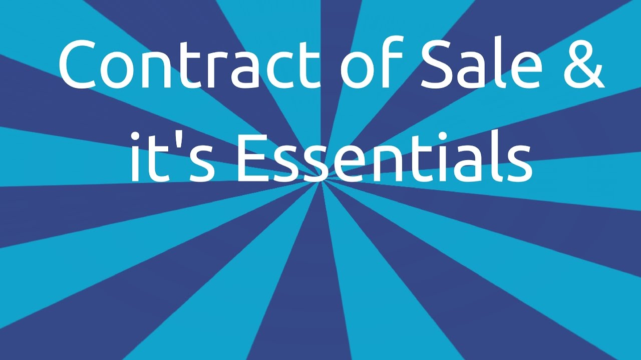 define formalities of a contract