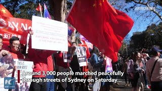 Thousands gather in Sydney calling for end to violence in China's Hong Kong