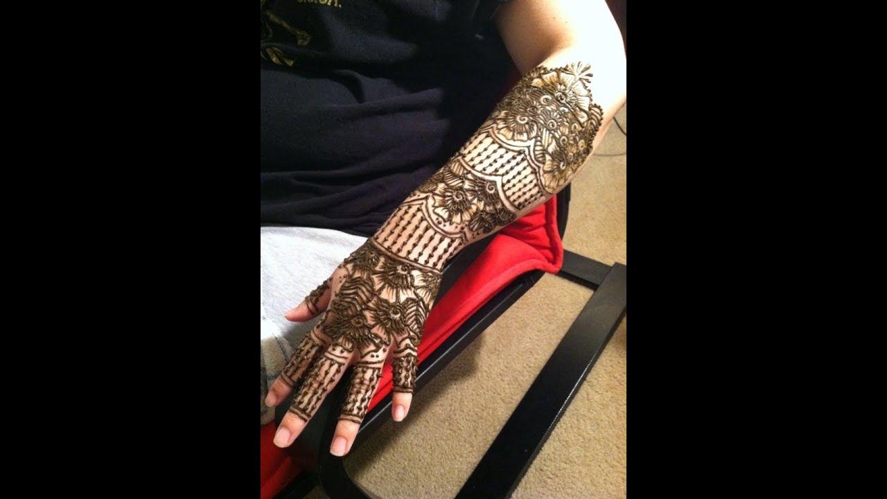 Full Arm Henna Designs: Full Arm Bridal Henna For Beginners Pt 1