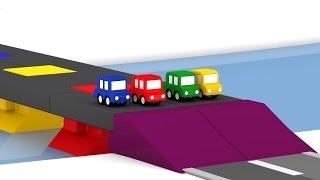 Lehrreicher Zeichentrickfilm - Die 4 kleinen Autos - Die Brücke