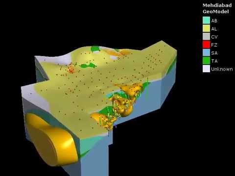Zn Cu 3D geological model MHDBD deposit
