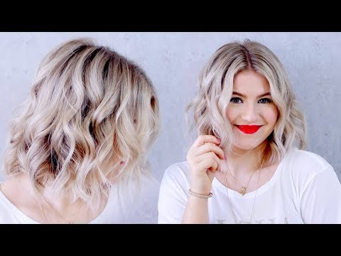 How to Curl Short Hair With A Flatiron