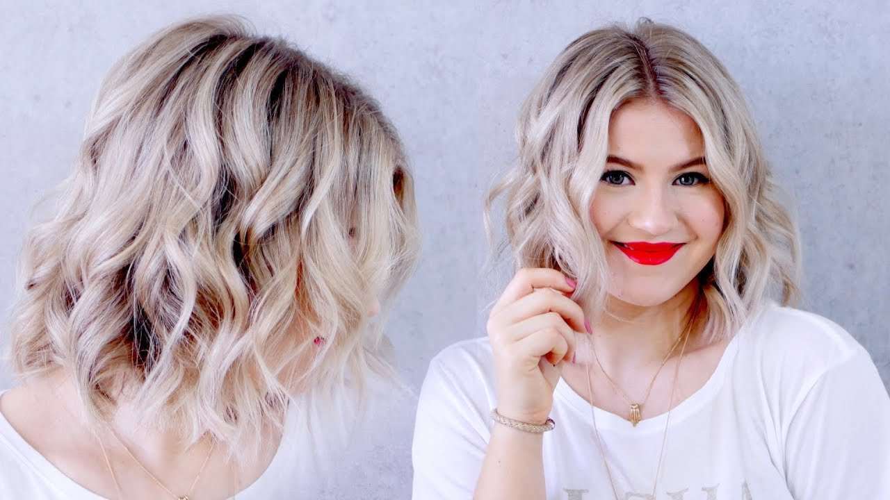 how to curl short hair - wavy hair tutorial for short hair
