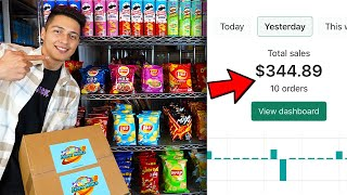 How I Make $300 A Dąy Selling Snacks On Shopify!