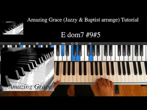 "Middle Lv (★★★☆☆) ""Amazing Grace - Jazzy & Baptist"" / R&B, Soul, Gospel Piano Lesson #7"