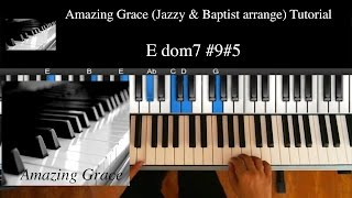 "Middle Lv (★★★☆☆) ""Amazing Grace - Jazzy & Baptist"" / R&B, Soul, Gospel Piano Lesson #7"