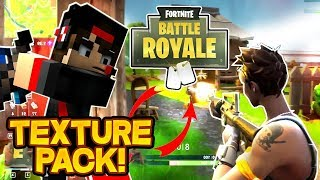 PLAYING WITH FORTNITE'S TEXTURE PACK!