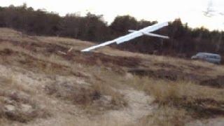 Mega crash with huge RC glider,